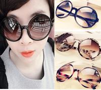 Fashion circle plate sunglasses big large round women sunglasses free shipping 070