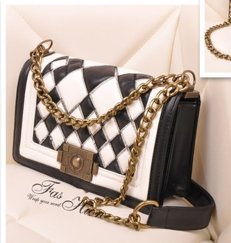 2013 summer casual fashion women's bags zipper buckle bag portable women's handbag chain bag