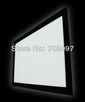 16:9 Format 92'' HD Matt White Fixed Frame Screen / HD grey fabric optional
