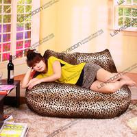 FREE SHIPPING leopard print bean bag chairs loveseat sofa bean bag velvet love seats bean bag furniture Double Sofa
