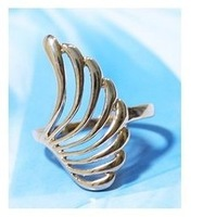 MixedLot $14 Free shipping 2013 wings style cutout leaves cutout ring lovers design finger ring