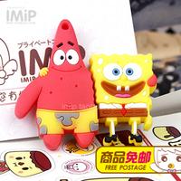 4GB 8GB 16GB 32GB Cartoon SpongeBob SquarePants and Patrick Star USB 2.0 Flash Memory Stick Drive Free Shipping