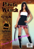 Free shipping 2014 Hot cosplay sale & new fashion pirate wench party halloween costume woman party dress + party costume