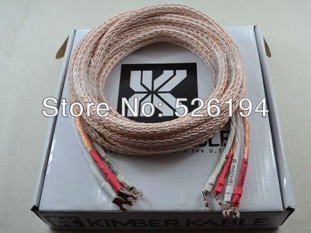 Kimber kable 12TC speaker cable audiophile speaker wires Single brand new 3.0M both Y spade(China (Mainland))