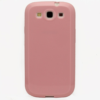 1PC Lovely Pink SOFT GEL TPU SILICONE BACK CASE COVER SKIN HOUSE PROTECTOR FOR Samsung Galaxy S3 S 3 I9300, Free Shipping