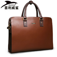 Xilivsha galeoid luxury hand man bag cowhide business casual fashion briefcase