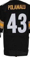 Free shipping Retail&Wholesale men elite jerseys Troy Polamalu #43 black american football jersey Stitched Jersey mix order