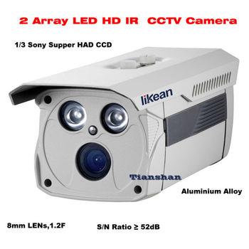 CCTV 700TVL Sony CCD High line Array 2 IR LED Security camera 8mm F1.2 Lens Surveillance Cam High-quality!