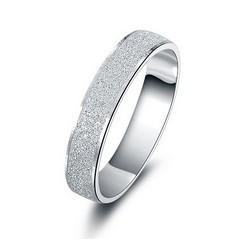 bestselling Brush Finish Sterling Silver rings 925 silver unisex finger ring