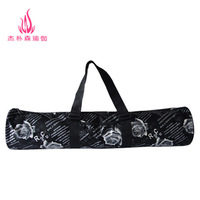 Fashion waterproof yoga bag yoga mat bag yoga bag yoga mat bag rose black paragraph