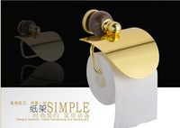Free shipping luxury golden aluminum granite tissue holder toilet paper bar  with lib bathroom accessories toilet appliance