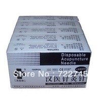 5 box 100 Disposable Acupuncture Needles 500 pcs free shipping worldwie