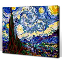 Frameless Diy digital oil painting 50 65cm colored drawing  paint by number kits acrylic painting unique gift for child