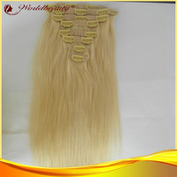 fre shipping popular easy wear blond clip in hair extensions 8pcs in one pack