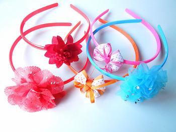 10 girls beautiful hair bands / free shipping / Mixed F834