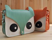 2013 animal bag small fox bag one shoulder women's handbag fashion big eyes bags personalized bags