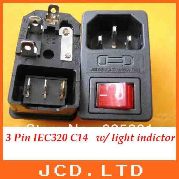 Iec 320 C14 красный свет