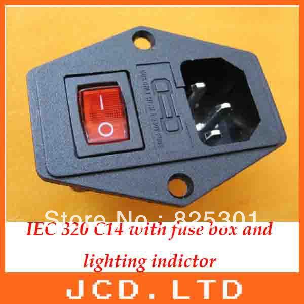 IEC 320 C14 3 контакт. рокер