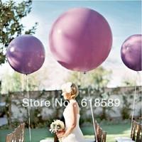 Free Shipping 10 pcs/lot,36 inches Balloon, Extra Large Round Birthday Decoration Balloon Wedding Balloon Latex Blastoff Balloon