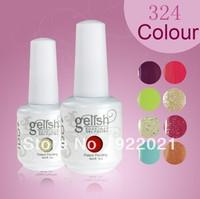 Free Shipping! Soak Off UV Gel Nail 324Fashion Colors 15ml