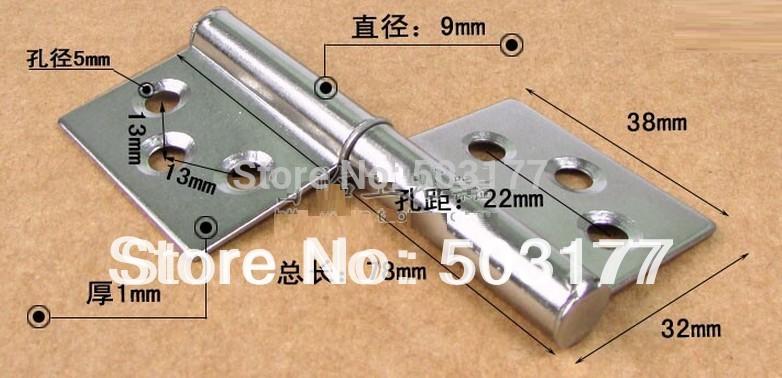 Stainless steel hinge 3'' ,Fire door hinge ,Flag hinge ,Thickness: 1 mm , Hardware hinges(China (Mainland))