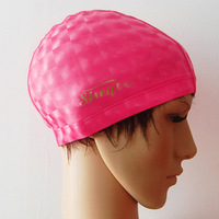Cloth leather fashion three-dimensional swimming cap multicolor