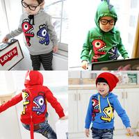 Retail-child sweatshirt boys hoody sweater child clothing