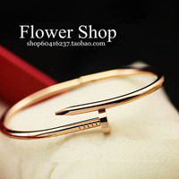 Fashion high quality rose gold screw bracelet hand ring nail bracelet personalized accessories lovers bracelet