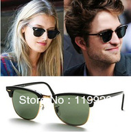 Женские солнцезащитные очки 2013 Brand designer Sunglasses Mens Sunglasses Gold frame green lens Model-33644