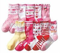 FREE SHIPPING----baby girl's socks autumn/winter wear fashion socks cotton children clothes cute princess socks 5pair/lot 070201