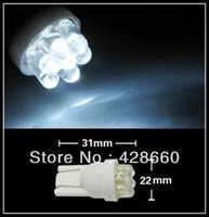 2013 Wholesale 100/lot Car Auto LED T10 194 W5W  Wedge Light Bulb Lamp 7LED White/ Blue / Red / Yellow