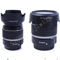 100% Professional New DHL 50  PCS  EW-63C EW63C Camera Lens Hood Shade For Canon EF-S 18-55mm f/3.5-5.6 IS STM