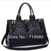 HOT 2014 women's fashion brief crocodile pattern messenger bag leather handbag free shipping