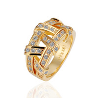 Free shipping , 18k gold plated rings , High quality 18k gold rings,wholesale fashion jewelry rings 18krgpr063