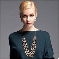 2013 Fashion jewelry,Annular pendant necklaces,Gold plated long necklace,Newstyle Europe and America style sweater necklace N134
