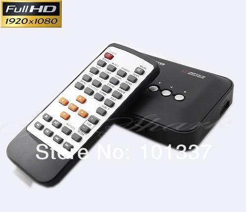 Full Hd 1080P Media Player USB/SD RMVB RM H.264 MKV AVI VOB with AV, YUV, HDMI port Mini Hdd player free shipping(Hong Kong)