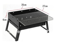 Wholesale and retail,Black steel Portable outdoor barbecue grill,Free shipping.
