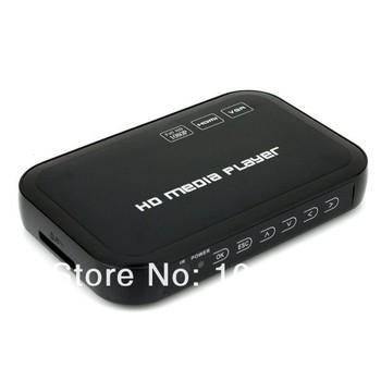 Full Hd 1080P Media Player USB/SD RMVB RM H.264 MKV AVI VOB with AV,YUV,VGA,HDMI port Mini Hdd player free shipping