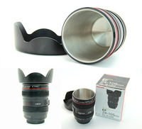 Free Shipping  the 4th Generation Black Fastness Stainless Steel Lens Mug Cup