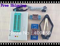Free shipping Russian Manual TL866A+PLCC32\44+SOIC8 clip+PLCC clip USB Universal Bios programmer ICSP FLASH\EEPROM SOP\PLCC\TSOP
