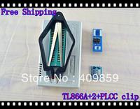 Free shipping V6.0 Russian Manual TL866A+SOP8&16+SSOP8+PLCC clip USB Universal Bios programmer ICSP FLASH\EEPROM SOP\PLCC\TSOP