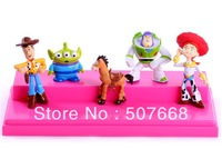 Free shipping EMS 100/Lot 5 pcs Toy Story 3 Woody Jessie Buzz Figures Set New Wholesale