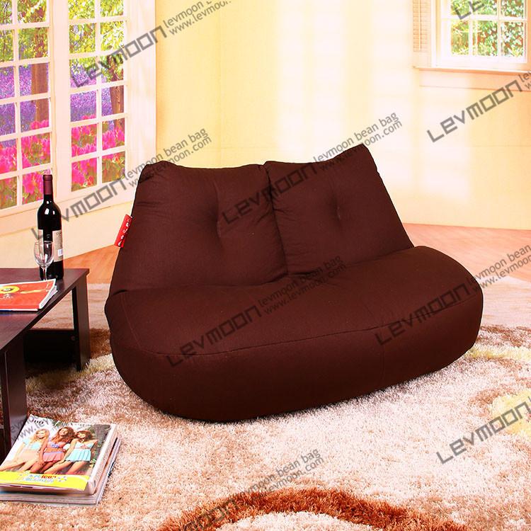 FREE SHIPPING coffee beanbag chair modern loveseat 100% cotton canvas fabric bean bag chair bean bag furniture bean bag cover(China (Mainland))