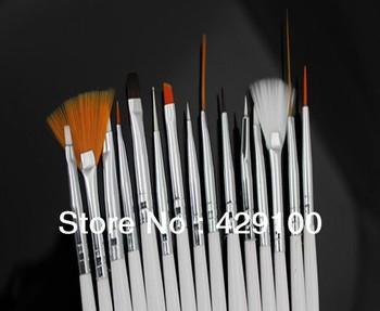 15Pcs Nail Art Acrylic Nail Design Polish Brush Dot Painting Tool Pen set
