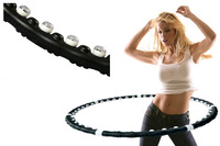 Thin waist slimming device the disassemblability magnetic massage hula hoop