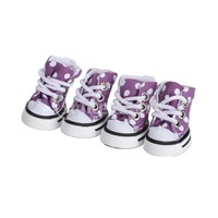 Free Shipping Dots Dotted Pet Dog Boots Shoes Sneakers - Purple