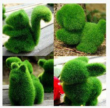 4pcs Grass Land cute animals artificial grass ,animals designs small decorative gift, can relieve eye fatigue Artificial Turf