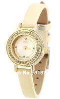 Hot Selling Original Design Brand Watches JULIUS,Small Dial Luxury Full Crystal Women Wristwatches,Quartz Fashion Leather JA-538