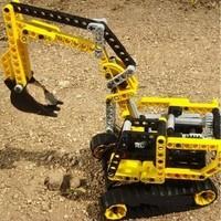 Free shipping! Decool 3328 Excavator Exploiter series Building Block Sets 288pcs Educational Jigsaw Enlighten DIY Construction