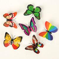 Wholesale -Simulation of butterfly fridge magnet fridge magnet creative fashion 100pcs/lot mix style
